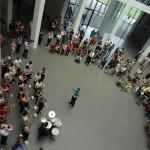 Musik-Flashmob im Museum