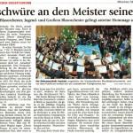 Liebesschwüre an den Meister seines Fachs (Münchner Merkur, Landkreis Süd, 24.12.2014)