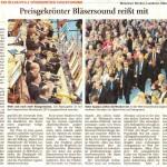 Preisgekrönter Bläsersound reißt mit (Münchner Merkur, Landkreis Süd, 23.1.2015)