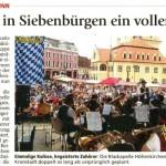 Besuch in Siebenbürgen ein voller Erfolg (Münchner Merkur, München Süd, 10.8.2014)