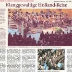 Klanggewaltige Holland-Reise (Münchner Merkur, Landkreis Süd, 31.03.2015)