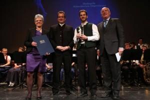 Preisübergabe: Marieluise Kolb, Florian Sepp, Konrad Sepp, Peter Winter (Foto: Steffen Leiprecht)
