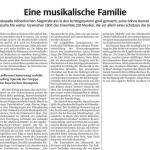 Eine musikalische Familie (Süddeutsche Zeitung, 16.04.2015)
