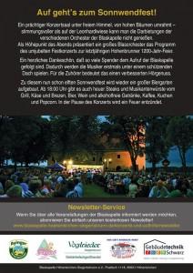 Einladung Sonnwendfest