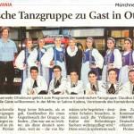 Rumänische Tanzgruppe zu Gast in Ottobrunn (Münchner Merkur, 9.6.2015)