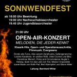 Sonnwendfest am 26. Juni 2015 mit Open-Air-Konzert
