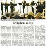 Erfrischend anders (Münchner Merkur, 21. Januar 2016)