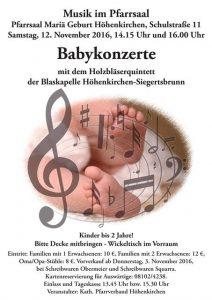 Plakat Babykonzert