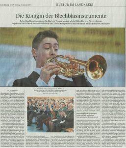 """Süddeutsche Zeitung, 23.01.2017, """"Die Königin der Blechblasinstrumente"""""""