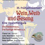 """Frühjahrskonzert 2017 """"Wein, Weib und Gesang"""""""