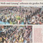 """""""Wein, Weib und Gesang"""" erfreuen ein großes Publikum (Münchner Merkur, 11.04.2017)"""