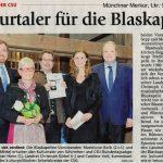 Kulturtaler für die Blaskapelle (Münchner Merkur, Lkr. Süd, 24. April 2017)