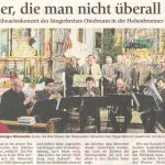 Lieder, die man nicht überall hört (Münchner Merkur, 19. Dezember 2017)