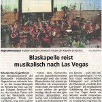 Blaskapelle reist musikalisch nach Las Vegas (Münchner Merkur, 24.4.2019)