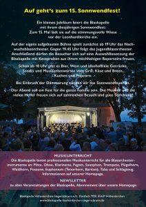 Handzettel Sonnwendfest 2019 Rückseite