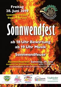 Handzettel Sonnwendfest 2019 Vorderseite