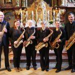 Kleines Standkonzert mit dem Saxophonensemble
