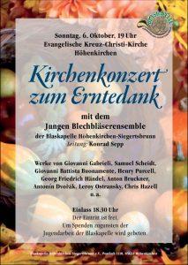 Plakat Erntedank-Konzert 2019