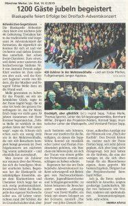 Münchner Merkur, Konzertbericht 16.12.2019