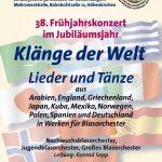 "Abgesagt! Frühjahrskonzert 2020: ""Klänge der Welt"""