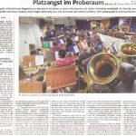 Platzangst im Probenraum (Süddeutsche Zeitung, 12. Februar 2020)