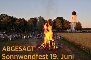 Absage Sonnwendfest